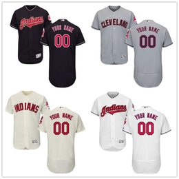 Wholesale indian names - custom Men's Women Youth Majestic Cleveland Indians Jerseys Personalized name and number Home Blue White Kids Baseball Jerseys