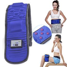 Wholesale Vibration Slim Belt - Electric Lose Weight Slimming Belt Abdominal Tummy Slimming Belly Fat Burner Massage Vibration Fitness Belt AAA255