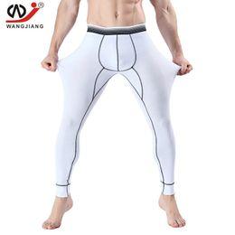 Wholesale Xxl Mens Underwear Wholesale - Wholesale-WJ Brand new men long johns mens warm pants thin elastic men fashion sexy underwear cotton tight legging long Johns size XXL