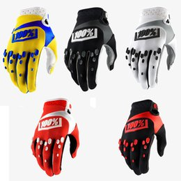 Wholesale off road bicycles - Off-Road Motocross Gloves Outdoor Sports Long Finger Gloves Bicycle Riding 100% Gloves Protective Gear Men Support FBA Drop Shipping H522F