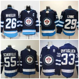 Wholesale Newest Jet - #29 Patrik Laine Winnipeg Jets 2017-2018 Season Newest 33 Dustin Byfuglien 26 Blake Wheeler 55 Mark Scheifele Hockey Jerseys