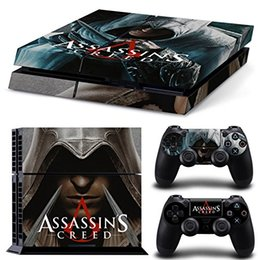 Decalques de playstation para o console do controlador on-line-Assassin's Creed PS4 Vinyl protetora Decal Cover Skin Set para Console e DualShock 4 controladores - PlayStation 4