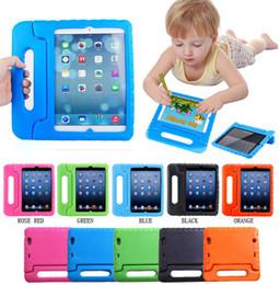 Kinder shockproof ipad fall online-Kids Safe Case EVA-Schaum für iPad neue 2018 Mini 234 2/3/4 5 6 Pro 3D Cartoon unschädliche Kinder Kids Shockproof Protection Stand