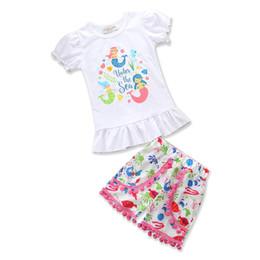 Wholesale Cartoon Character Tshirt - Kids Clothing Summer Girls Sets Short Sleeve Tshirt and Cartoon Pants Cotton Cute Children Girl Clothes