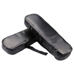almohadillas de apoyabrazos Rebajas Silla apoyabrazos cubierta alta fuerza elástica cuero de la PU comodidad descompresión negro apoyabrazos almohadilla para oficina sillas de ocio respetuoso del medio ambiente 15xm ff