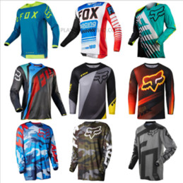 Wholesale fiber clothes - Men's 2018 Motocross Jersey FOX Color Sports Off Road Clothing Quick Dry Function