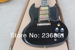 Canada Corps en acajou de haute qualité touche ébène personnalisé 3 pick-up SG noir guitare livraison gratuite Offre