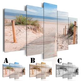 Aucune image encadrée de mur a imprimé la peinture de toile de peinture de jet de peinture décor à la maison Extra Mirror Border Beach et Woodroad ? partir de fabricateur