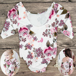 1aa92c5ccb57 1-5Years ins kids girls floral rompers baby girl rompers long sleeve  jumpsuits kids ruffle bodysuits childrens clothes toddler onesies