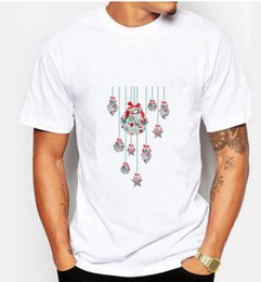 Wholesale Christmas Candle Red - Men's Christmas Candles Bursting New Short Sleeved T-shirts 10 Types Man And Women's Tee