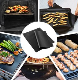 heating pads Coupons - BBQ Grill Mat Non-Stick Barbecue pad 33*40cm Black Pad Sheet Outdoor Picnic Cooking Tool BBQ Accessories