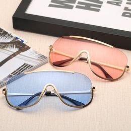 Wholesale Vintage Round Eye Glasses - 2018 Newest Oversized Square Sunglasses Women Cat Eye Sun Glasses Male Mirror Sunglasses Men Glasses Female Vintage Gold Glasses