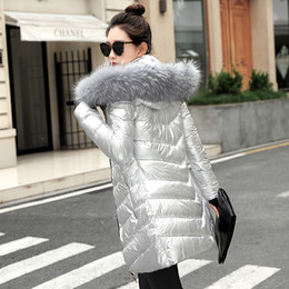 34515874ba6d5 chaqueta corta de piel plateada Rebajas Mujeres chaquetas de invierno  Abrigo corto y cálido estilo color