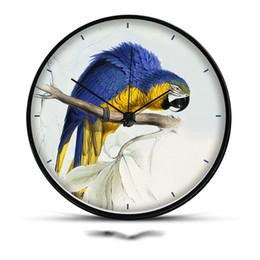 8/12 pouces 12 heures horloge murale silencieuse motif oiseau aiguille en métal verre miroir cercle horloges de montre pour la décoration de l'art à la maison ornement ? partir de fabricateur