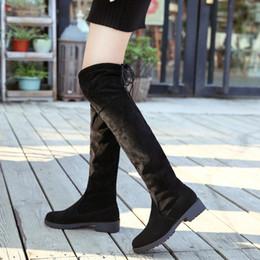 b383acbb502121 Neue Muster Grob Overknee Boots Temperament Kreis Kopf Frauen Winter  Stiefel Hohe Elastische Warmhalten Erhöhen günstig hochelastische stiefel  warm