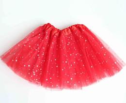 Falda larga de encaje de verano online-Verano de las muchachas de la princesa falda de la danza larga estrella de encaje paillette vestido de niños niña tutú faldas larga dresse rendimiento de la falda