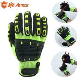 2020 guanti meccanici xl NMAromr 1 paio guanti anti-vibrazione da lavoro guanti anti-vibrazione e antiurto guanti da lavoro antiurto, livello 5 tagliato D18110705 sconti guanti meccanici xl