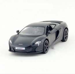 Wholesale Big Cool Cars - 1:36 scale cool dark matt McLaren 650S 2 open the door pull back toy vehicles diecast metal model toys alloy collection model