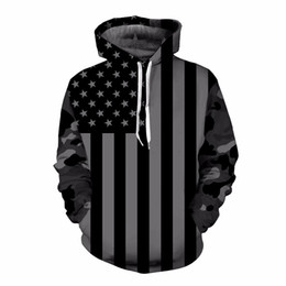 Trainingsanzüge usa online-USA Flagge Hoodies Männer / Frauen 3D Sweatshirts Drucken Striped Stars Amerika Flagge Hooded Hoodies Trainingsanzüge Pullover Mr.1991INC