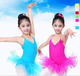 Wholesale christmas leotard - kids girls party ballet costume tutu dance skate dress leotard skirt Professional Tutus Dance Leotard Costume dress KKA4412