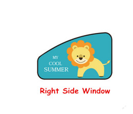 Wholesale curtain side window sun - Magnetic Car Sun Protector Side Window Sunshade Curtain Adjustable Sunscreen Protected From Sunlight And UV Rays Lion