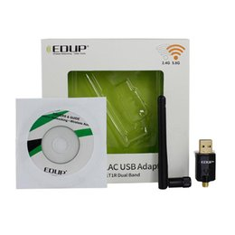 Wholesale Dual Band Wireless Adapter - Wholesale- EDUP EP-AC1607 Dual-band 2.4G 5.8ghz Wireless USB Wifi Adapter With 2dbi Antenna 600MBPS Wi-Fi Dongle