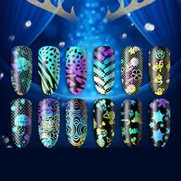 Adesivo a campana online-13pcs Natale Nail Natale Stampa Sticker Decorazione Bell Tree Candy Stick Decoration Incredibile caldo