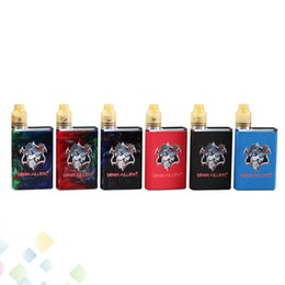 tiny batteries Promo Codes - Authentic Demon Killer Tiny Kit Electronic Cigarette Metal and Resin Version 3 Colors Intuitive LED battery indicator Ecig DHL Free