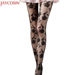 Wholesale Rose Lace Tights - JAYCOSIN Women's Regular Size Rose Sexy Stockings Tights Lace Pantyhose Stockings High Elastic Vintage Tights for women