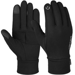 Guanti in lycra online-Vbiger Unisex Winter Gloves Soft Sport Antiscivolo Touch Screen Guanti Warm Texting Stampa riflettente