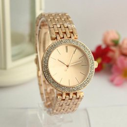 Wholesale luxury watches for kids - Ultra thin rose gold woman diamond flower watches 2017 brand luxury nurse ladies dresses female Folding buckle wristwatch gifts for girls