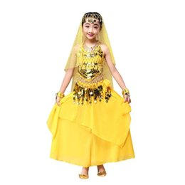 Wholesale Dance Costumes For Boys - Baby Girl Dress Toddler Girls Summer Baby india Clothing Girl belly dancing Outfit Children's costumes for belly dancing