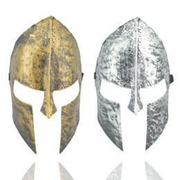 Wholesale silver masquerade masks for men - Halloween Costumes Immortal Mask Gold Silver Film Sparta Retro Warrior Masquerade Fancy Dress Party Vintage Masks 2 77jd bb