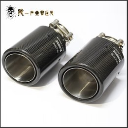 Wholesale Exhaust Fiber Carbon - ID:51MM 54MM 57MM 60MM Glossy Akrapovic exhaust car car-styling pipe muffler tip carbon fiber Sfor BMW for Volkswagen for Benz (1PCS) 2018