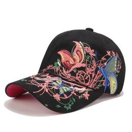 54a9217b916cd Moda lady Pullu işlemeli beyzbol şapkası Kelebek nakış ördek dil dudak  şapkalar gelgit şapka toptan güneş koruma güneş şapka