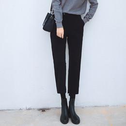 Wholesale Thick Harem Pants - 2017 New autumn winter harem pants women casual loose Thick Woolen trousers women pantalon femme plus size Ankle-Length Pants