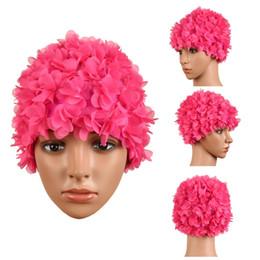 0e1c81871c9 2019 ladies swim cap Mujeres Natación Sombreros Tridimensional flor pétalos  señoras natación gorra ladies swim cap