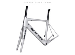 Wholesale diy carbon road bike - 2018 Deacasen best gift carbon road bicycle frame DIY painting carbon frame bikes available size 48 51 54 56 58mm