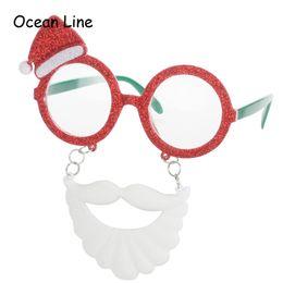 Wholesale santa fancy dress - Funny Santa Claus Beard Glasses Fancy Dress Party Decoration Costume Eyewear Christmas New Year Party Supplies Decorations