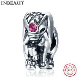 Wholesale bracelet elephant - INBEAUT 925 Sterling Silver Lovely Animal Scattered Beads for Wedding Chain Women Cute Elephant Charm fit Pandora Bracelet
