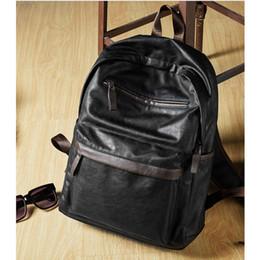 2019 таблетка корея 2018 новая мода сумка кожа мужская ноутбук рюкзак повседневные Daypacks для колледжа большой емкости модные школа рюкзак мужчины дорожная сумка