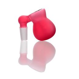 bongos de borracha Desconto 2018 Venda Quente Frete Grátis borracha Vermelha 36g 14mm Conjuntos Bongos De Vidro Tubos Acessórios Fumadores De Água Para Hookahs