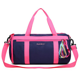5b48ddf3f8f dry bag 35l Coupons - Female Nylon Waterproof Gym bag EVA Material Separated  from Wet Dry