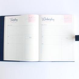 organizador de escritório diy Desconto Domikee 2018 ano escritório escola capa mole diy cadernos de papelaria, bem pessoal diário planejador agenda organizador para cada dia