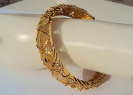 schweres breites armband Rabatt CARVE 22K 23K 24K THAI BAHT GELB FINE GOLD GP JEWELRY WIDER SCHWERES ARMBAND ARMBAND BA20