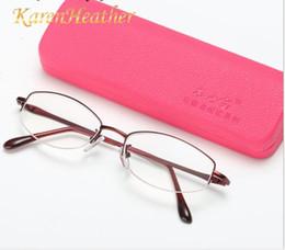 Vecchi telai di vetro online-New old mirror Prenota Lady Lady Radiation Protection Occhiali a mezza montatura per occhiali da presbite