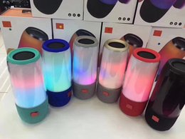 Wholesale light battery - Pulse 3 Bluetooth Wireless Speakers Portable Built-In 1500mAh Battery LED Light Show With 360° Sound Surround Speakers VS Charge 3
