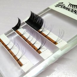 Wholesale Individual Eyelashes Extensions - One Second Russian Volume lashes 3D-6D 0.05 0.07 Automatic Volume Eyelash Extensions Same Length in One line for lashes artists
