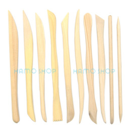 Wholesale Clay Tool Kit - 10pcs Wooden Clay Sculpture Pottery Carving Tools for Sculpting Modeling Set Kits