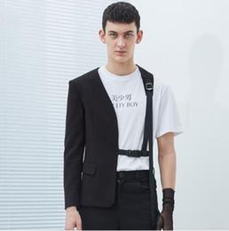 trajes de escenario para cantantes masculinos Rebajas S-5XL HOT Spring nueva ropa masculina cantante DJ GD personalidad estilista de moda traje de medio lazo coreano más tamaño hombres chaqueta trajes de escenario